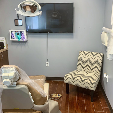 Dental office and chair